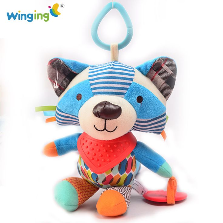 Aliexpress.com : Buy Baby Raccon Plush Animal Toy Baby Teether Toy with Sound Soft Appease Stuffed Doll Care Sleep Calm Doll Crib Bed Hanging Toy 083 from Reliable toy bow and arrows for sale suppliers on mamamiya_land