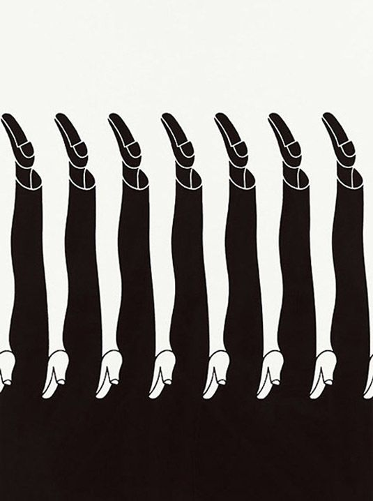 Shigeo Fukada - Japanese graphic designer employed a strong use of negative space in his artwork