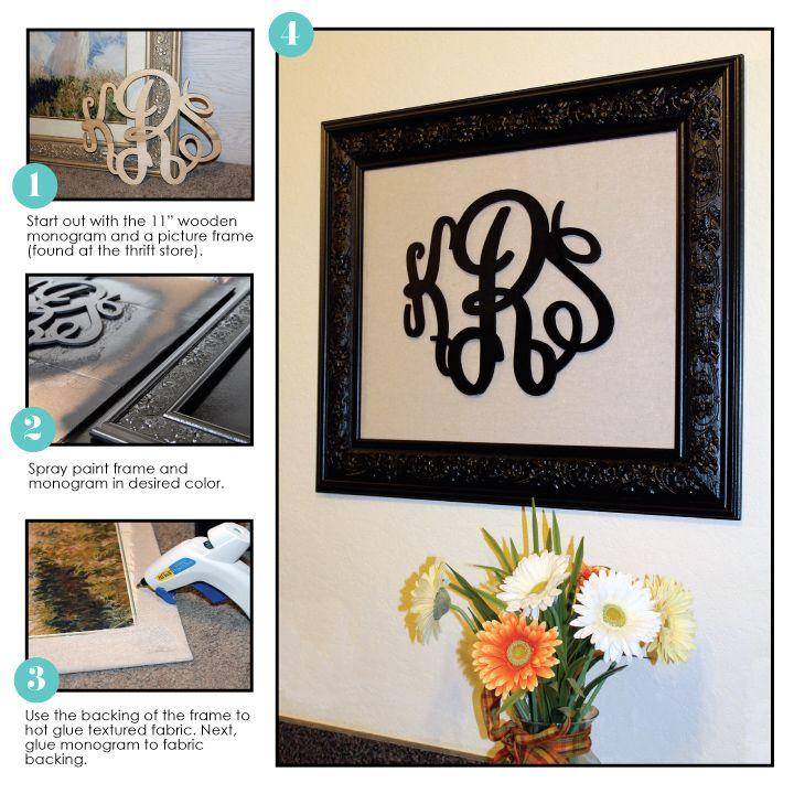 DIY framed monogram!