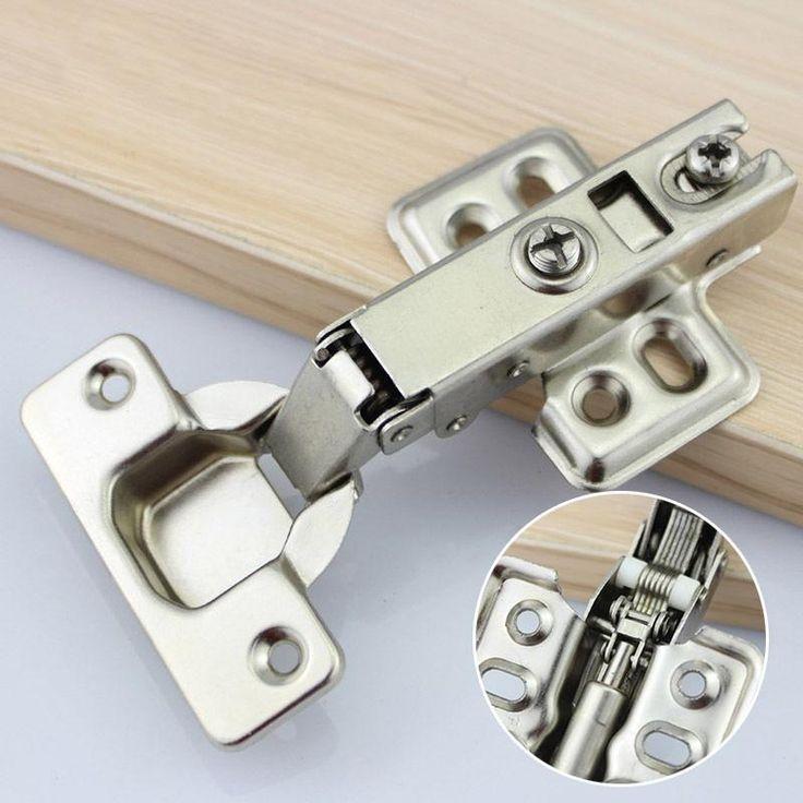 Hinge Rustless Iron Hydraulic Hinge Iron Core Damper Buffer Cabinet Cupboard Door Hinges Soft Close Furniture Hardware