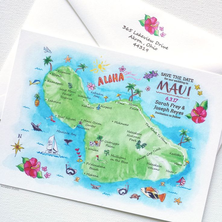Custom Wedding Map, Destination Wedding Save The Dates, Hawaii Save The Date Map, Maui Save The Date Cards by MospensStudio on Etsy https://www.etsy.com/listing/231668048/custom-wedding-map-destination-wedding