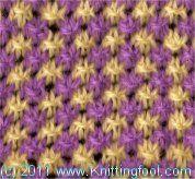Closed Star - Knittingfool Stitch Detail