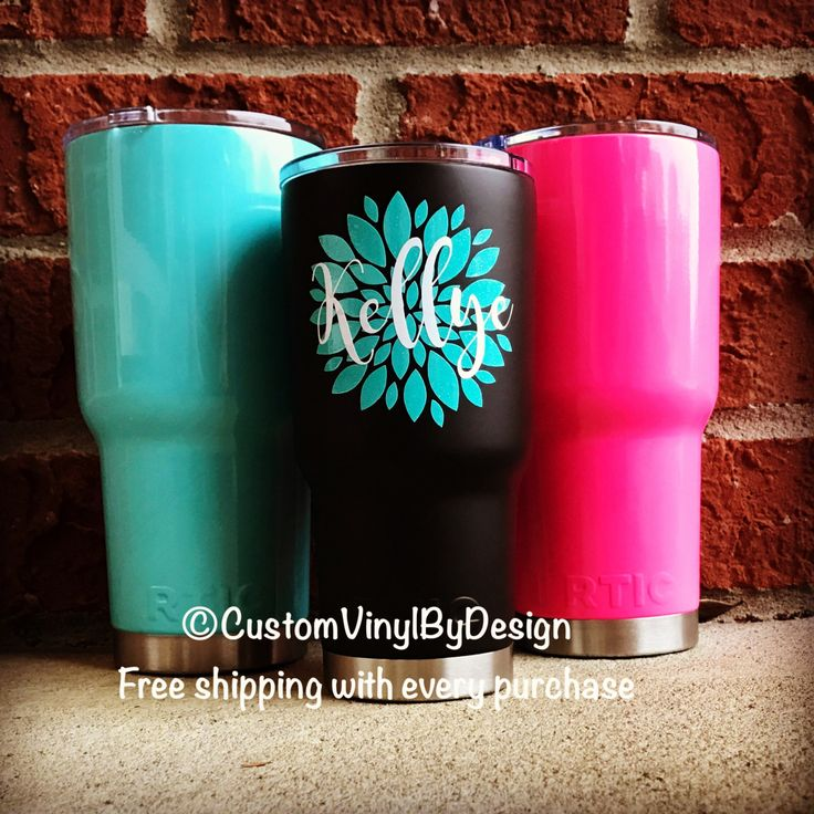 Ships Free! RTIC Tumbler, RTIC Cup, RTIC Powder Coated Tumbler, Stainless Steel, Monogram Tumbler, Personalized Gift, Custom Tumbler by customvinylbydesign on Etsy