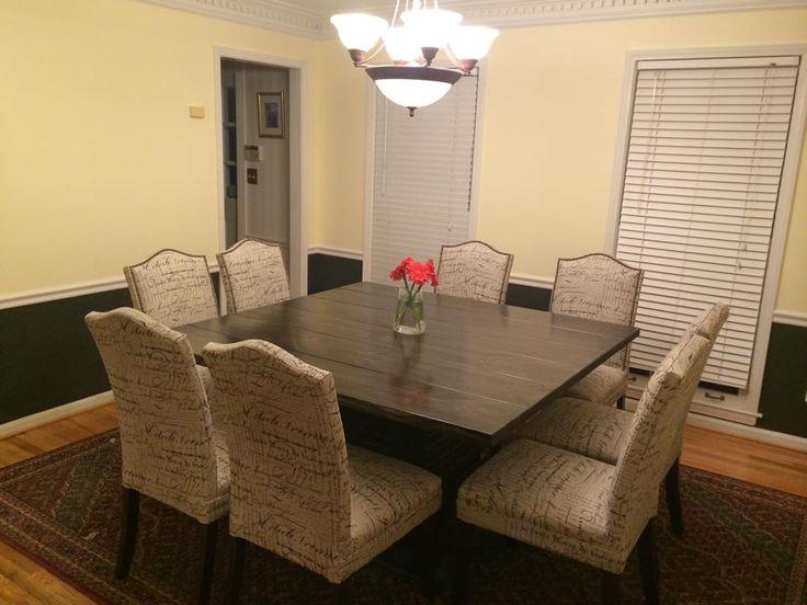 77 Best Square Tables Images On Pinterest  Square Tables Prepossessing Custom Built Dining Room Tables Inspiration