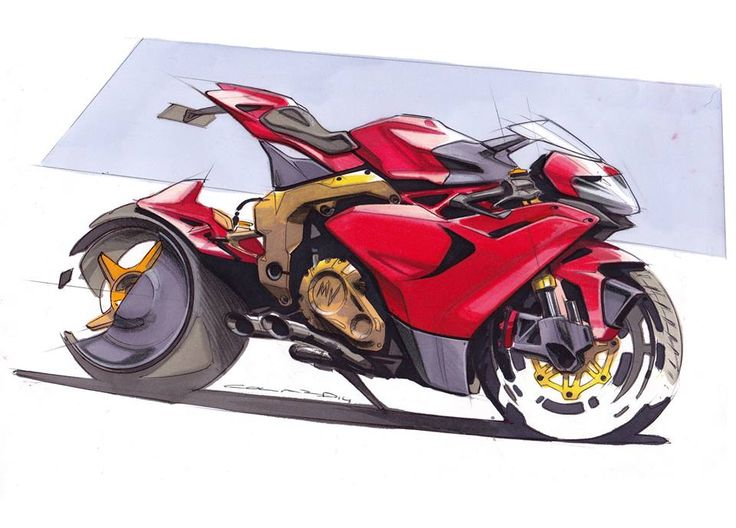MV Agusta Hyperbike / Marker Sketch by Anthony Colard.