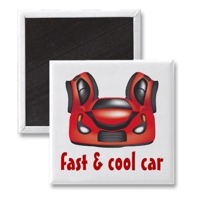 Sport Car Magnet  $2.85