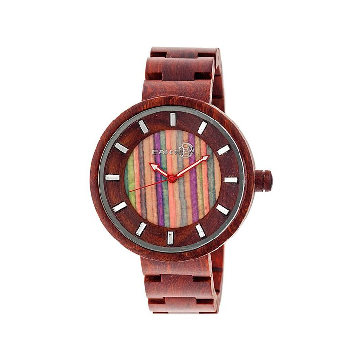 Earth Wood Goods Watches Earth Wood Root Multicolor Dial Wooden Bracelet Watch