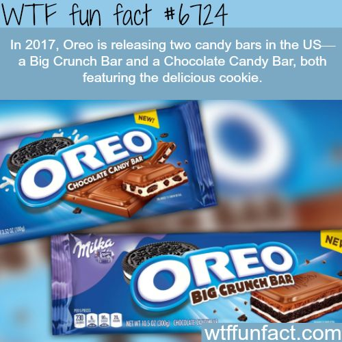 Oreo is releasing two candy bars in 2017- WTF fun fact