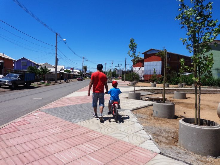 Paseos barrio San Hernán. San Fernando, región de O´Higgins, 2014. Junto a equipo MINVU región de O´Higgins