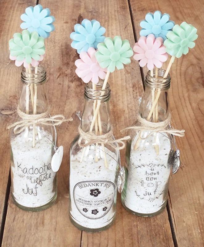 Smellie flowers tekst top juf | Smellie presentjes voor de Juffen !! | Kadoshop De Duizendpoot