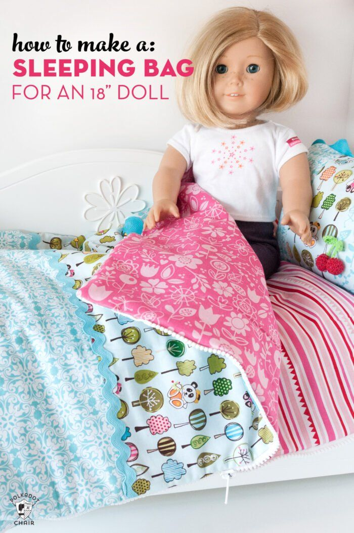 18 Inch  Doll Sleeping Bag Bed Pajama Outfit Clothes fits American Girl