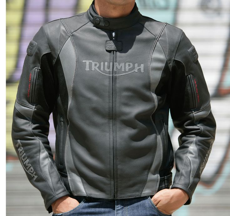 triumph arrow mens leather motorcycle jacket – fashionable jacket