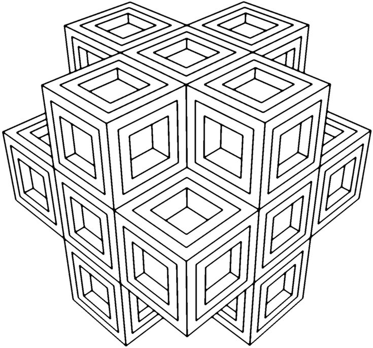 Geometry Coloring Pages For Grown Ups
