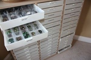 triple large bead storage organizer from Legacy Storage Systems