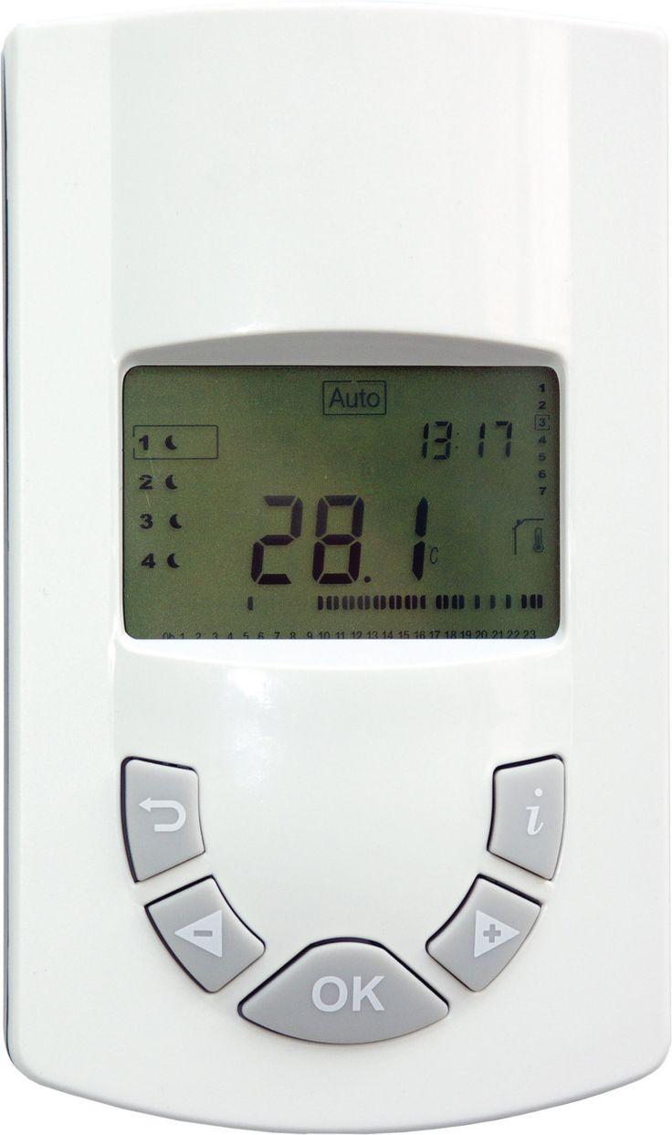 Energiatehokkaalla TempCo-lämmönohjausjärjestelmällä sinun ei tarvitse tinkiä mukavuudesta. Viikkokello TempCo RF EH mahdollistaa LVI-lämmittimen lämmönohjauksen neljällä eri alueella: mukavuuslämpö, alennettu lämpö, jäätymisenesto tai kokonaan pois päältä. Yhteensopiva esim. Yali Digital -sähköpattereiden kanssa.