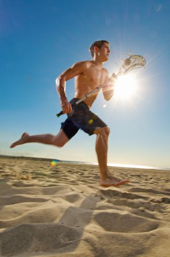 Shirtless Hot LaCrosse Jock Running On Beach | Hot Muscle ...