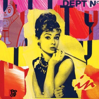 Paul raynal audrey hepburn pop art p o p s t a r - Deguisement audrey hepburn ...