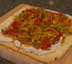 Grilled Sweet Pepper White Bean Flat Bread Recipe Video by Cooking With Coryanne | ifood.tv