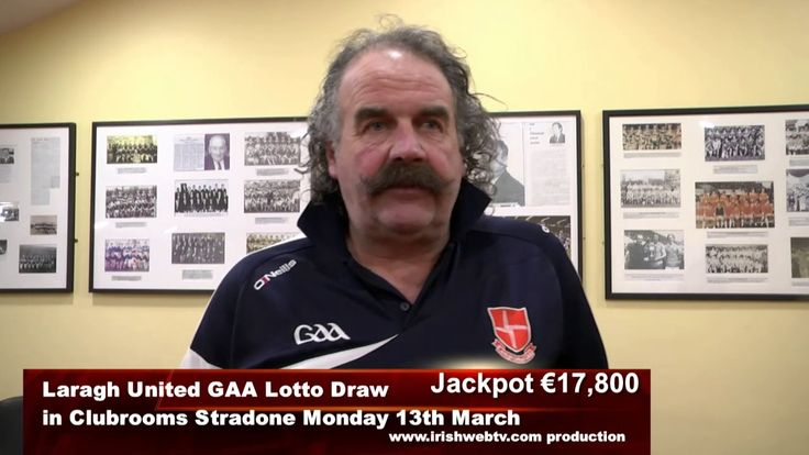 Sean Kelly Chairman Laragh United Lotto Draw Promo for Monday 13th March