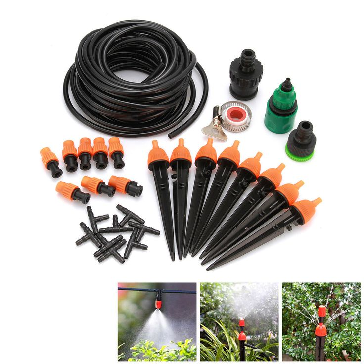 Auto/Manual Diy Watering Irrigation System Sprinkler Timer 25M 10M Garden Hose
