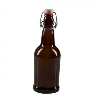 CASE OF 12 - 16 oz. EZ Cap Beer Bottles - AMBER - Beer Bottling - Brewing Equipment Midwest Supplies