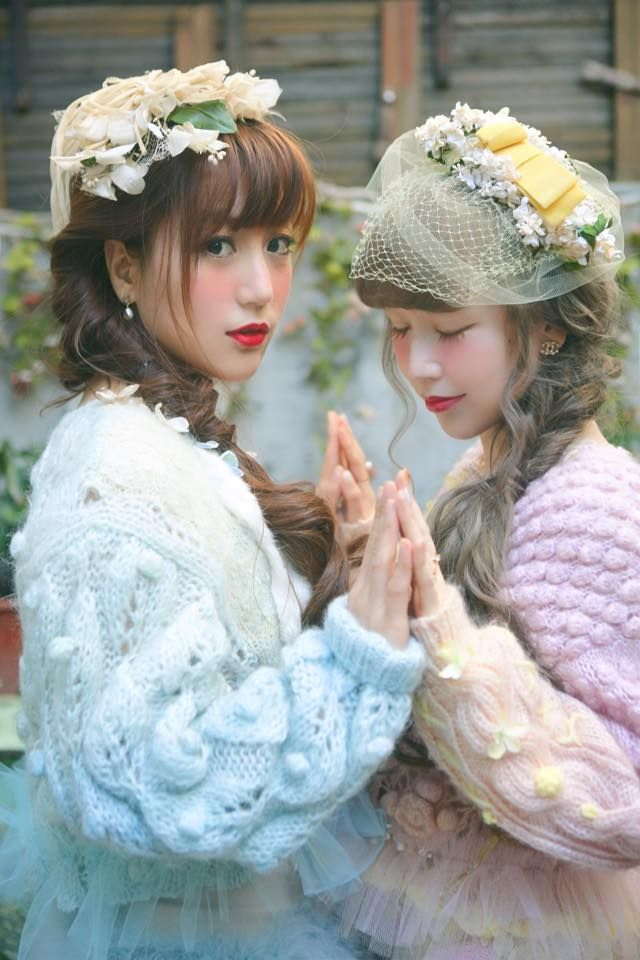 Their makeup is beautiful, as is their headdresses. The sweaters are adorable too - and comfortable looking!