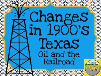 Potential oil and the railroad PowerPoint that could be used during a lecture, but adjusted for seventh grade and made interactive.