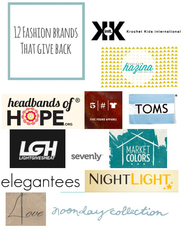 12 Charitable Fashion Brands That Give Back - including Noonday Collection! (at www.andreabecklundskow.noondaycollection.com)