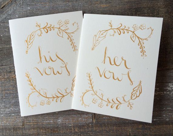 Wedding Vow Book - His and Hers - Vow books - Wedding vows - Gift for Engagement Party - Bride to be Gift - vows book, vow, wedding vow
