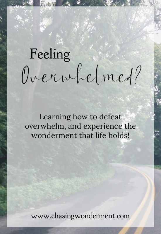 Feeling overwhelmed? It is possible to defeat overwhelm... and experience a life full of wonderment and adventure!