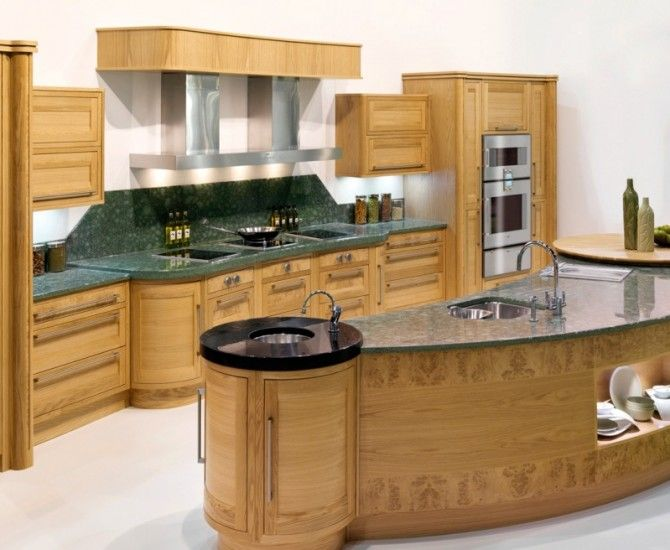 Burr Oak bespoke kitchen in a timeless in-frame shaker style.