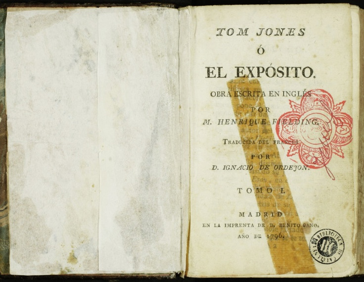 """Tom Jones"" by Henry Fielding. Courtesy of the Biblioteca de Catalunya (http://www.bnc.cat). (Castellà)  http://www.europeana.eu/portal/record/91911/A2C9BB204DB5CF77B4A247BC7AB0330881B1EE8B.html"
