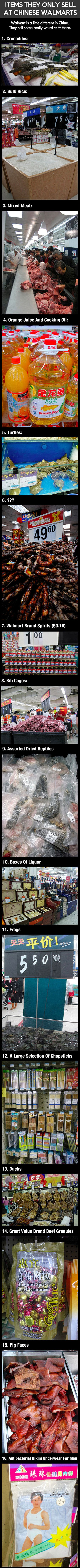 Here are some bizarre items you probably never knew they sold at Walmart locations in China.