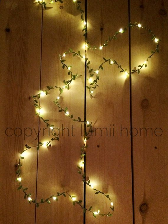 Long length 4m leaf garland LED fairy string lights perfect for rustic  wedding decoration summer party event enchanted forest woodland theme. 17 Best ideas about Enchanted Forest Bedroom on Pinterest