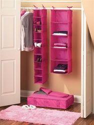 Closet Organization Complete Set - Pink Dorm room organization
