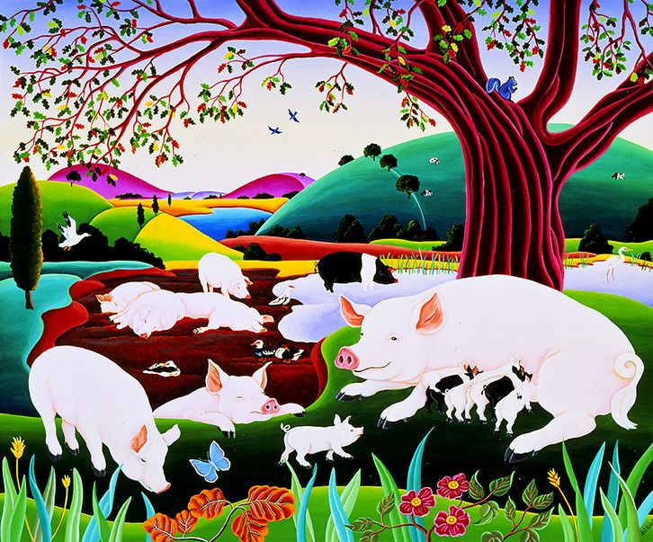 Hog Heaven Sale artwork, Fine art prints, Pig art