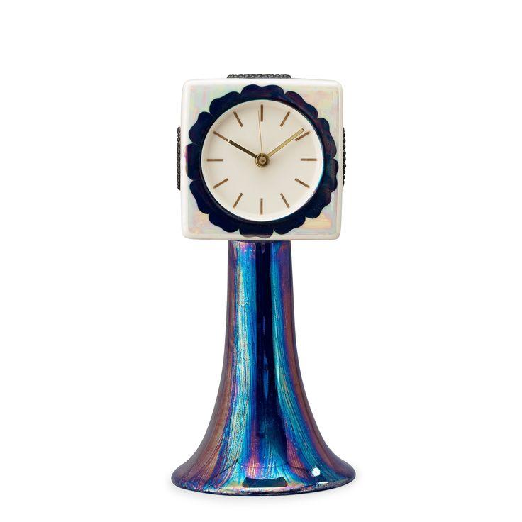 A Birger Kaipiainen 'Florence' stoneware table clock, Arabia, Finland. Height 37 cm.
