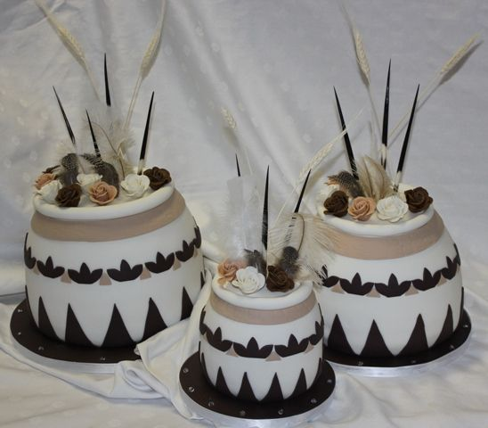 African Traditional Wedding Cakes African pot wedding cake