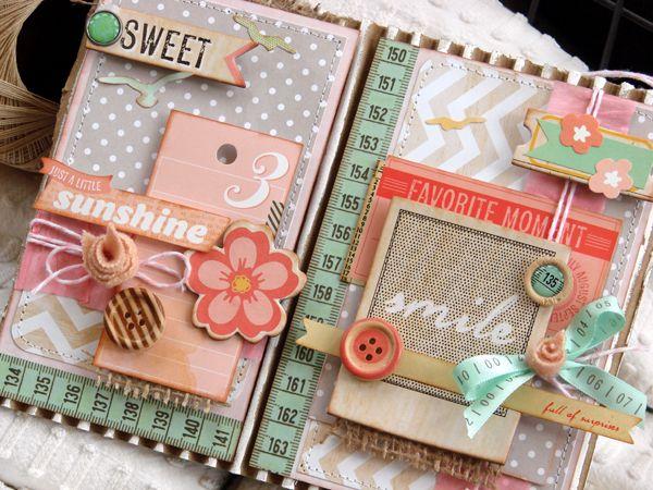 Dear Lizzy cuteness--sweet mini album, great layout design