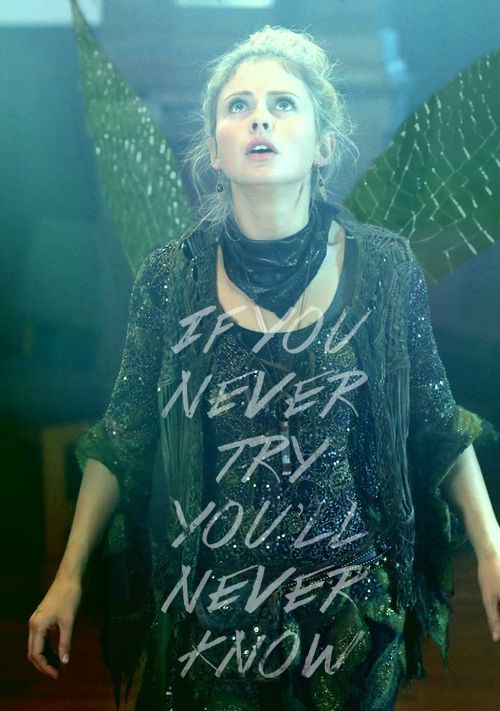 """Tinkerbell. this reminds me of """"But till I try, I'll never know!"""" from Defying Gravity in Wicked. :D"""