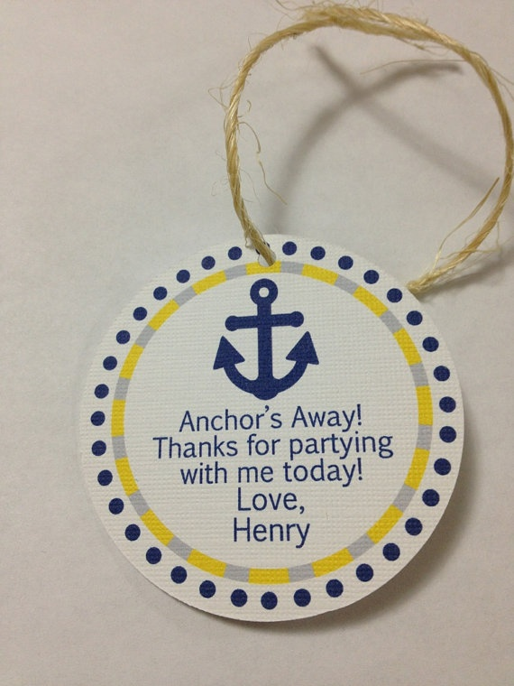 Birthday Party Favor Tags 12  Anchors Away by AdorableAffair, $8.00