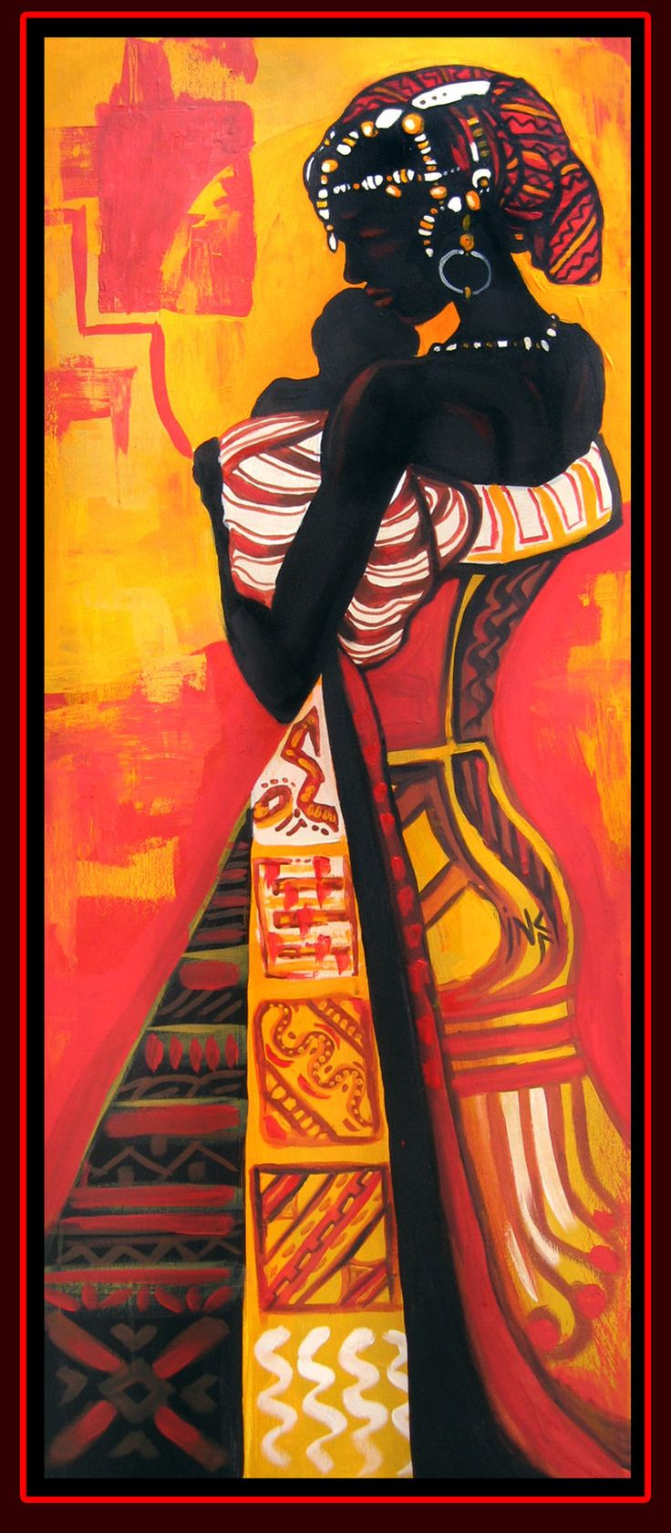 African American Art Posters African woman 6 by =Tsabo6