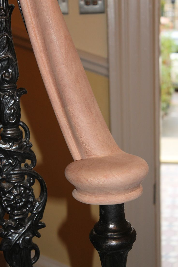Best Mahogany Handrail With A Volute Ready To Be French Polished Handrail Joinery Handrails 400 x 300