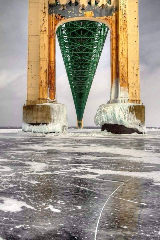 The Mighty Mac, Mackinac Bridge ~ Connecting Lower and Upper Peninsulas of Michigan