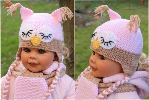 Speely Owl Hat Crochet Pattern