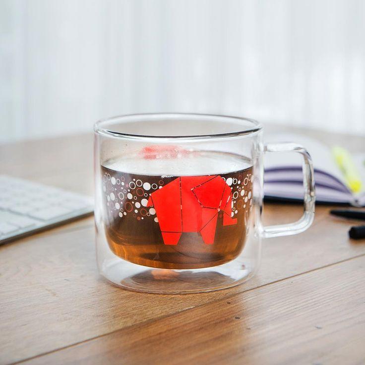 Une tasse de grande dimension... même très grande dimension! La tasse Max: une capacité de 450ml #teataxi #mug #elephant #tea #teaaddict #tealover