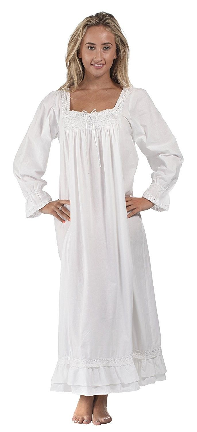 cc9ba1e37b Martha Nightgown 100% Cotton Victorian Style - Sizes XS - 3X - White -  C811JM6SPFH in 2018