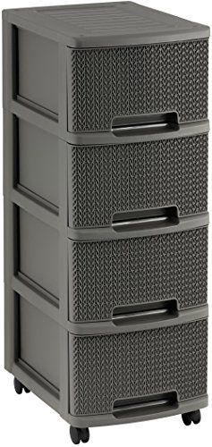 Curver Storage Drawer Safe closet Rattan Wicker Theme Usefull and Universal
