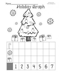 FREE Christmas graphing worksheet