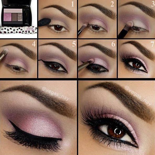 Eyeshadow step by step